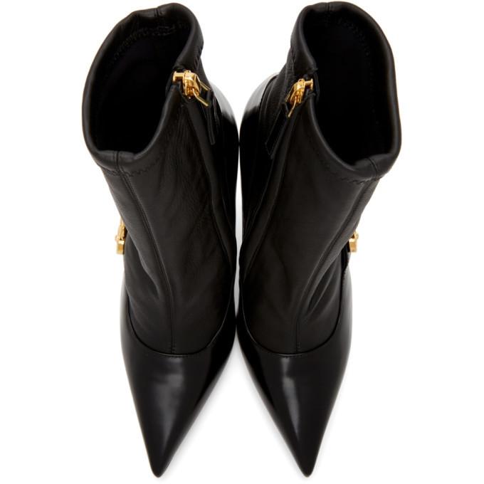 Versace Black Medusa Heeled Boots