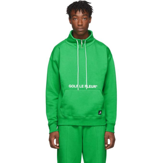 Converse Green Golf Le Fleur Edition Quarter Zip Pullover Sweatshirt Converse