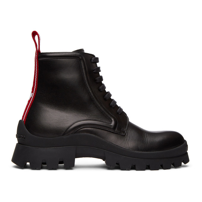 Photo: Dsquared2 Black Tank Tape Boots