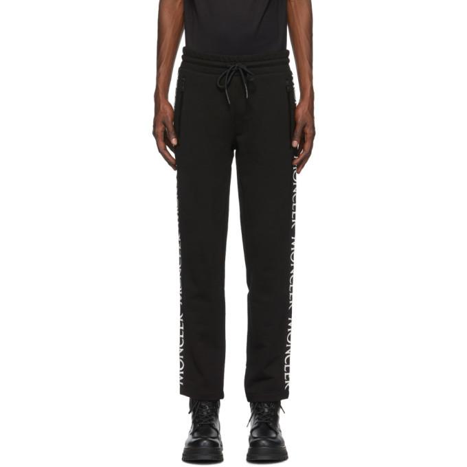 Photo: Moncler Black Logo Print Lounge Pants