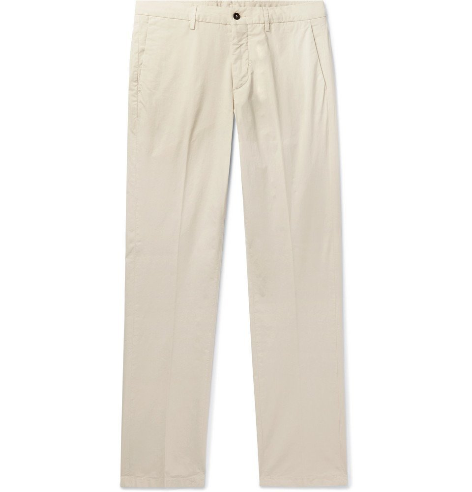 Photo: Dunhill - Slim-Fit Stretch-Cotton Chinos - Beige