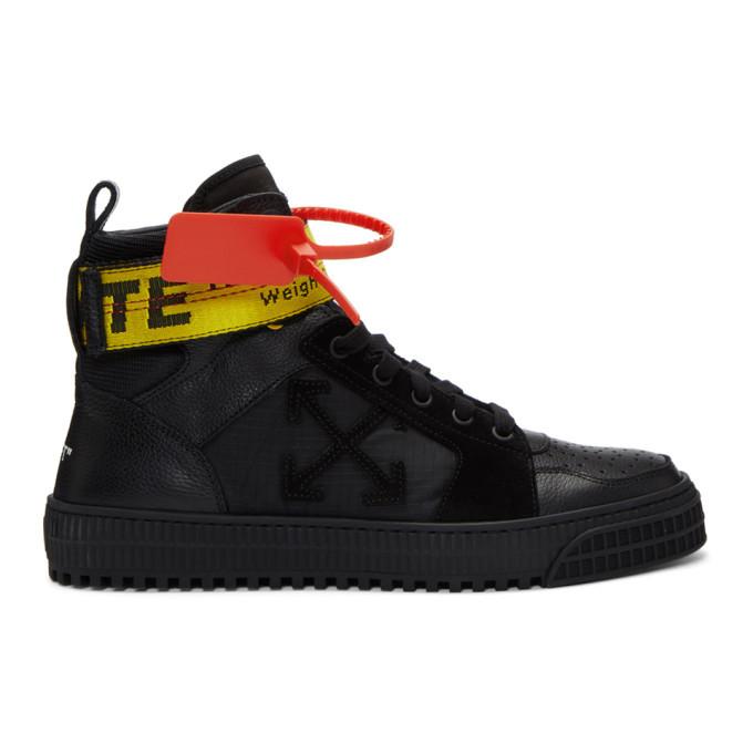 Black Industrial High-Top Sneakers