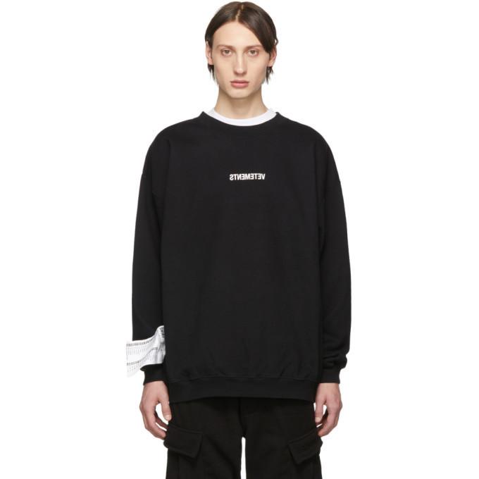 Photo: Vetements Black Inverted Logo Sweatshirt