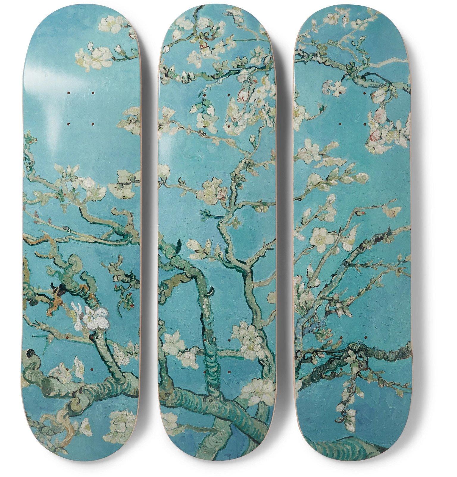 Photo: The SkateRoom - Vincent Van Gogh Set of Three Printed Skateboards - Blue