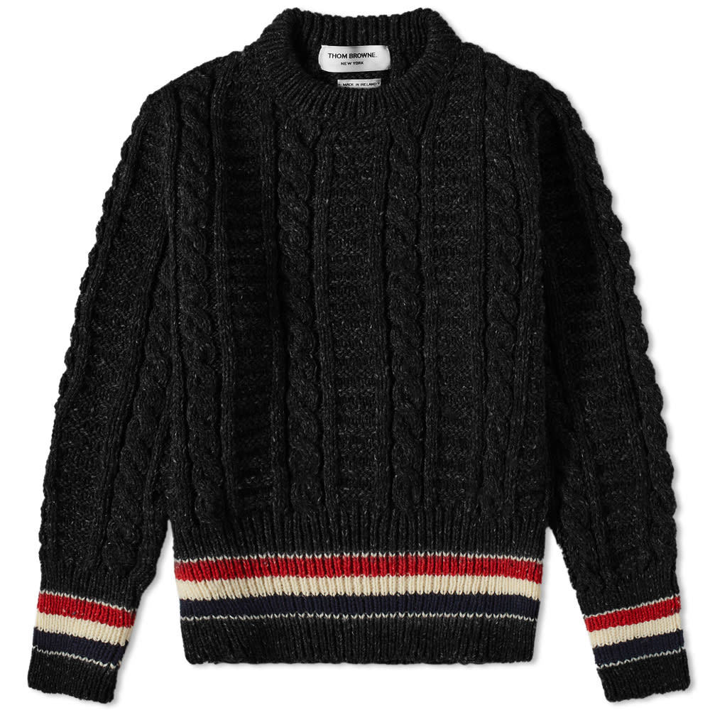 Photo: Thom Browne Mohair Mix Donegal Crew Knit