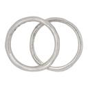 Ksubi Silver Dripps Box Cross Ring Set