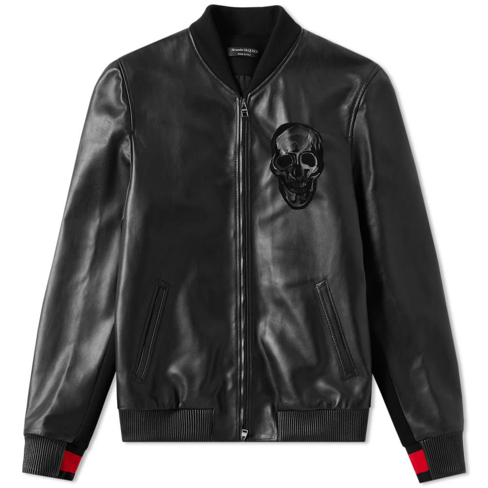 Photo: Alexander McQueen Leather Skull Bomber Jacket