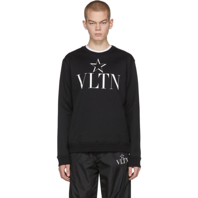 Photo: Valentino Black VLTN Star Jersey Sweatshirt