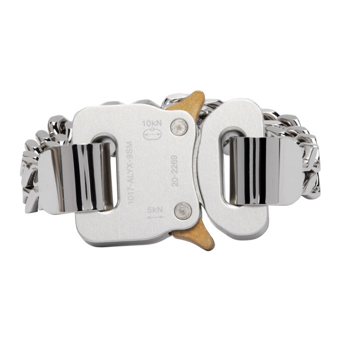 Photo: 1017 ALYX 9SM Silver and Gold Cubix Chain Bracelet