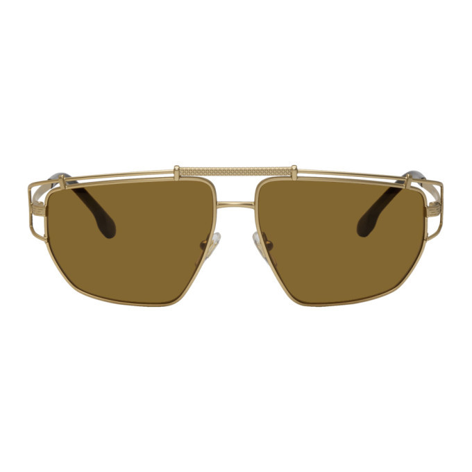 Photo: Versace Gold Greek Wire Sunglasses