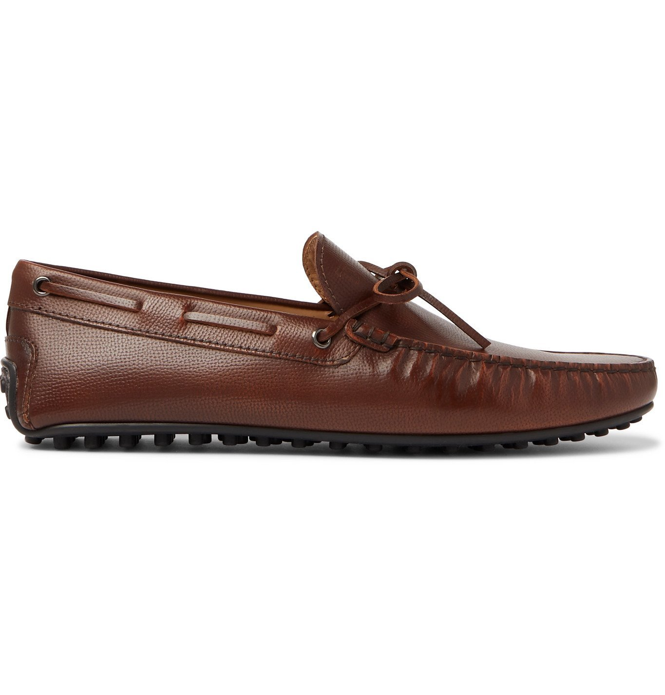 Tod's - City Full-Grain Leather Driving Shoes - Brown