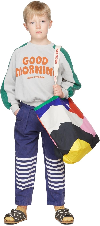 Photo: Bobo Choses Kids Blue Stripes Chino Trousers