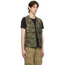Belstaff Green and Brown Camo Castmaster Gilet