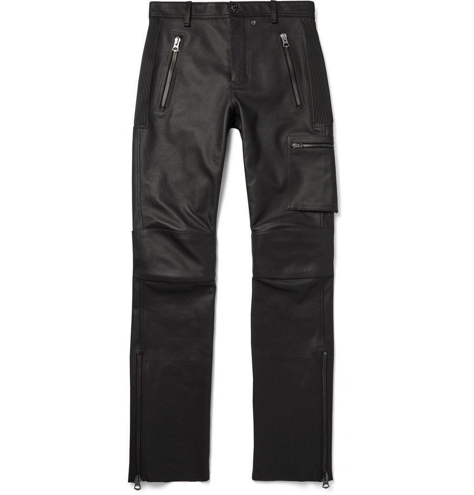 Photo: Acne Studios - Slim-Fit Leather Biker Trousers - Black