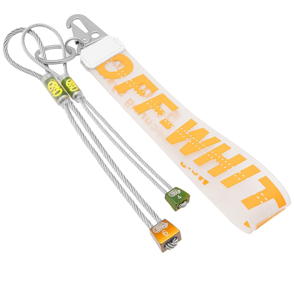 Off-White Rubber Industrial Keychain Off-White