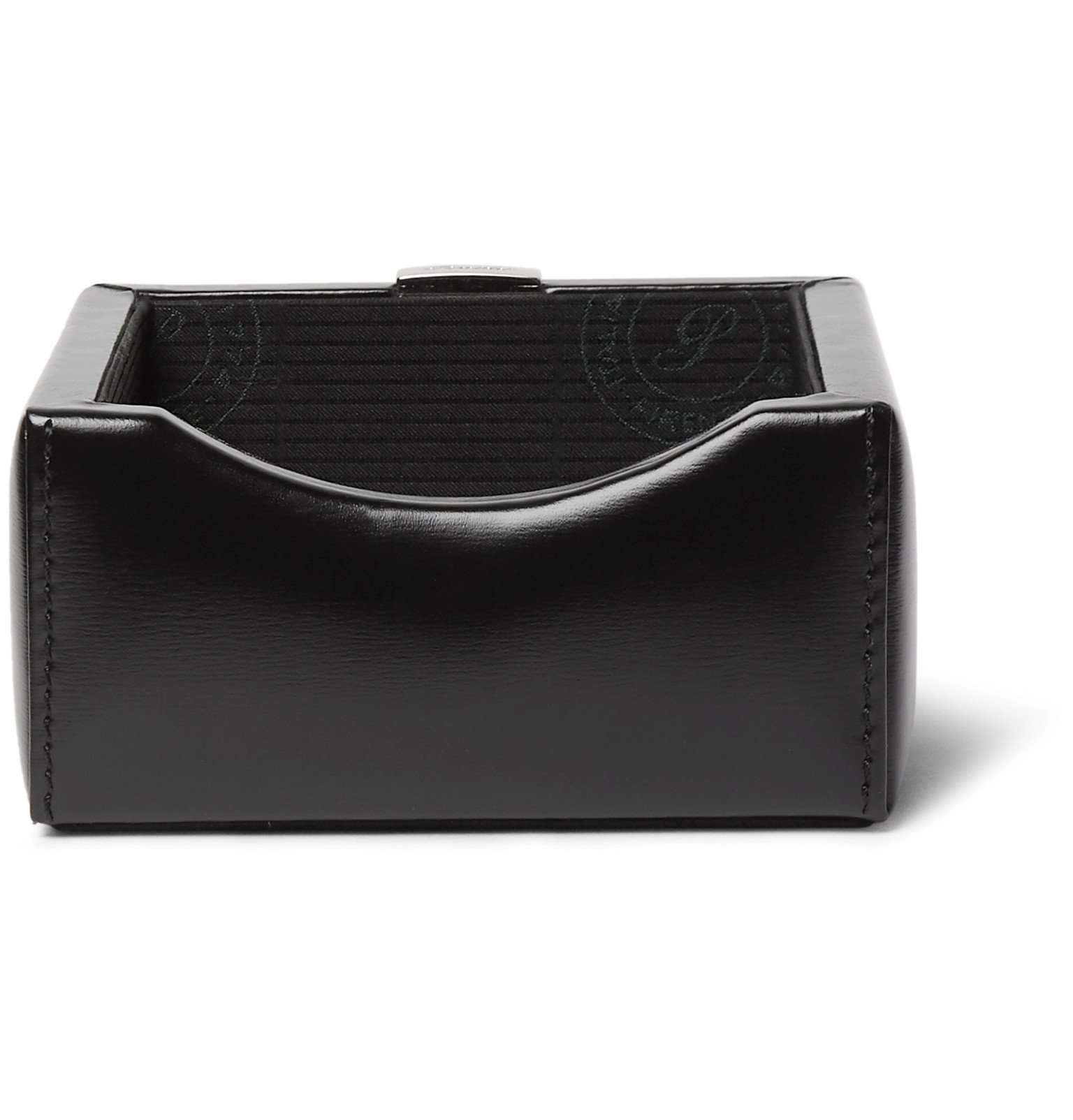 Photo: Pineider - 1949 Leather Business Card Holder - Black