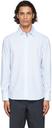 Dunhill Blue & White Striped Poplin Shirt
