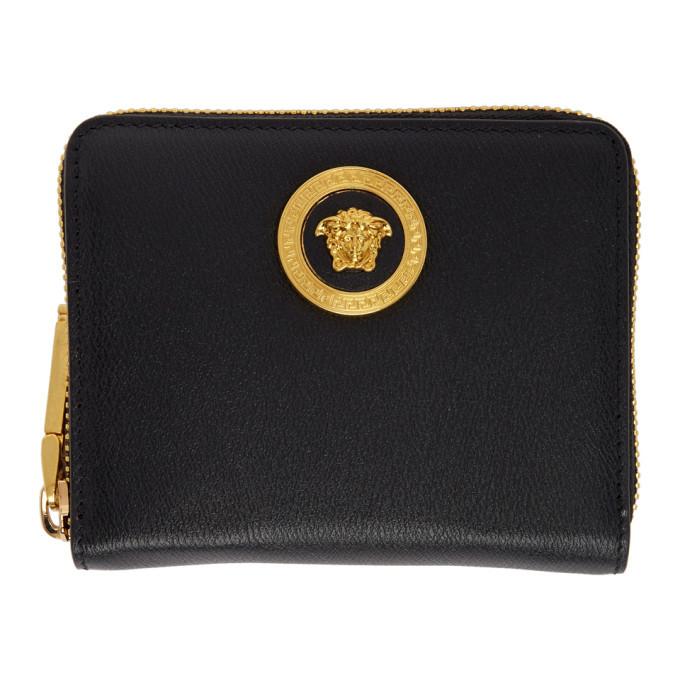 Photo: Versace Black Medusa Zip Wallet