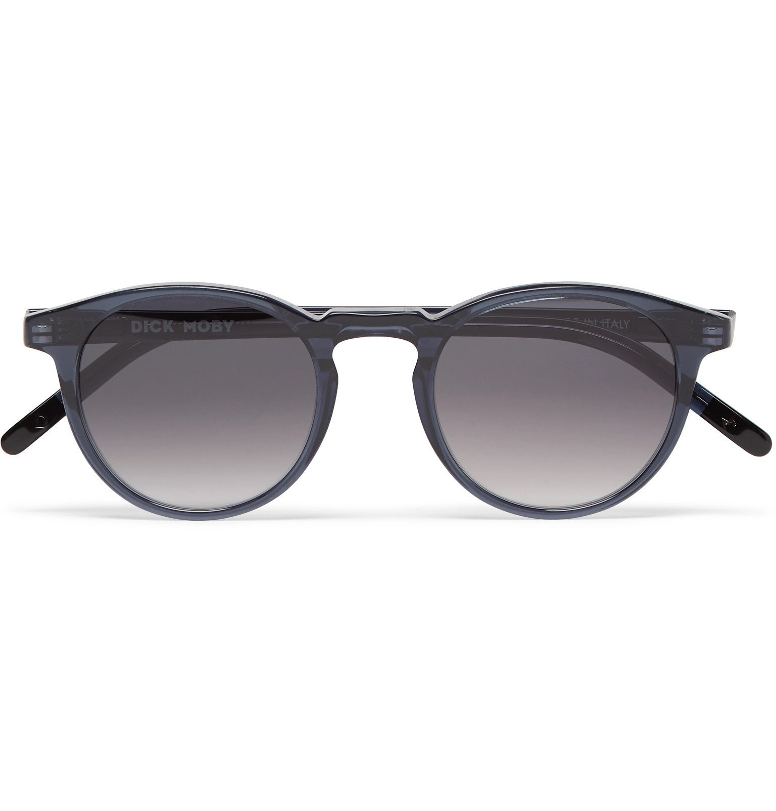 Photo: Dick Moby - Seattle Round-Frame Acetate Sunglasses - Blue