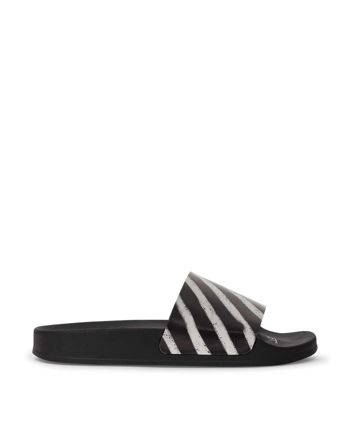 Photo: Off White Spray Stripes Slides Black/White