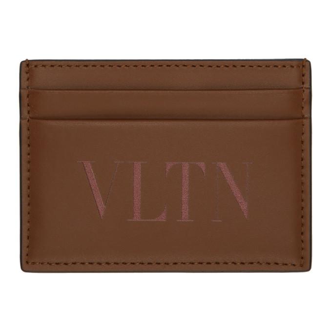 Photo: Valentino Brown Valentino Garavani VLTN Card Holder