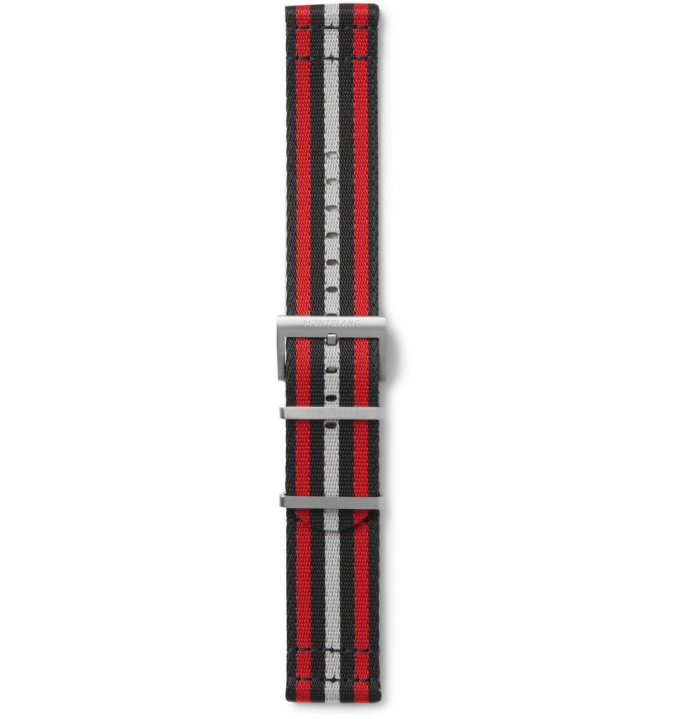 Photo: MONTBLANC - Summit 2 Striped Nylon Watch Strap - Red