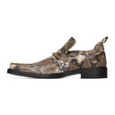 Martine Rose Brown Snake Square Toe Boot Loafers