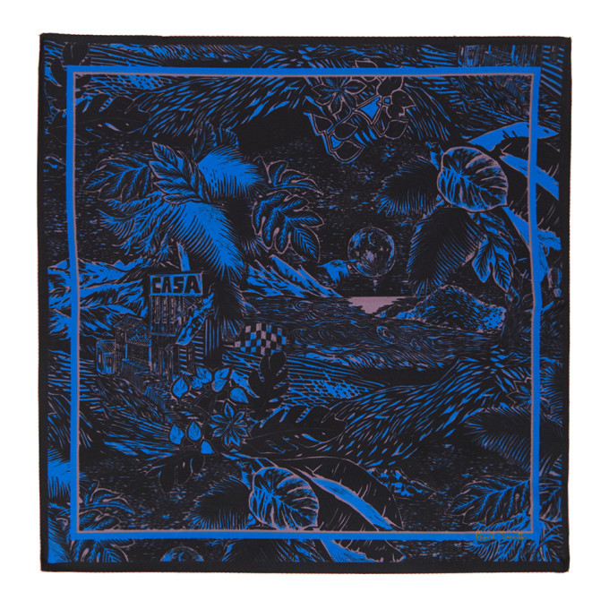 Photo: Paul Smith Black and Blue Chile Pocket Square