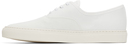 Common Projects White Canvas Four Hole Sneakers