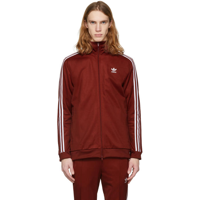 8ac1bee2d244 adidas Originals Red Franz Beckenbauer Track Jacket Adidas