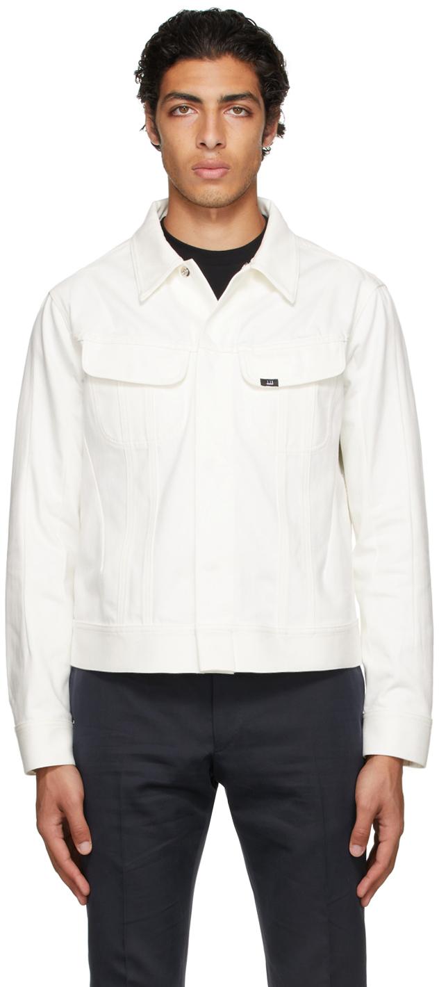 Photo: Dunhill White Denim Jacket