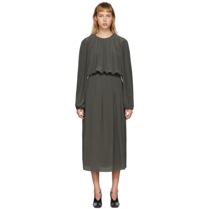 Photo: Lemaire Grey Pleated Mid Dress