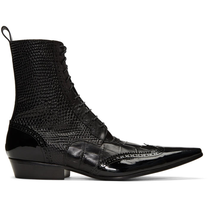 Photo: Haider Ackermann Black Brogue Boots