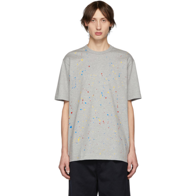 Photo: Comme des Garcons Homme Grey Paint Splatter T-Shirt