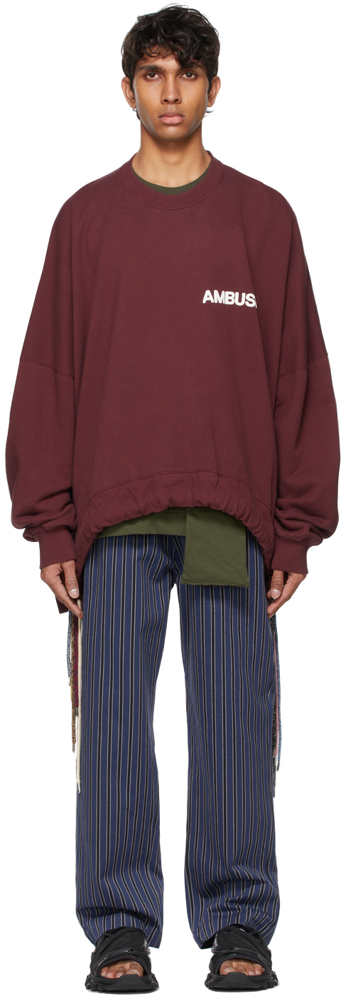 Photo: Ambush Burgundy Multicord Sweatshirt