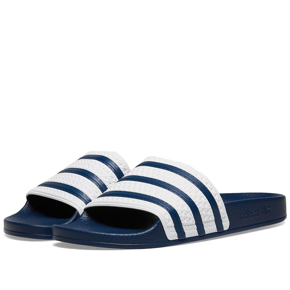 Adidas Adilette Blue & White