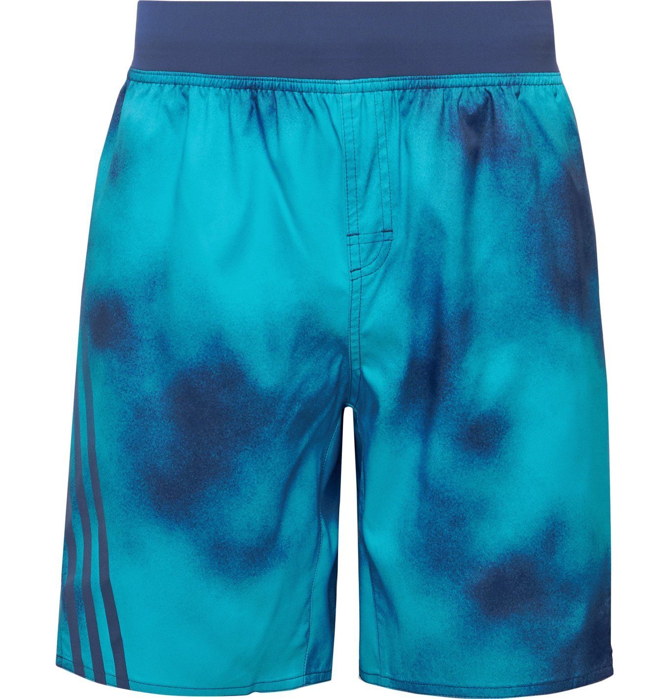 Photo: Adidas Sport - Printed Shell Shorts - Blue
