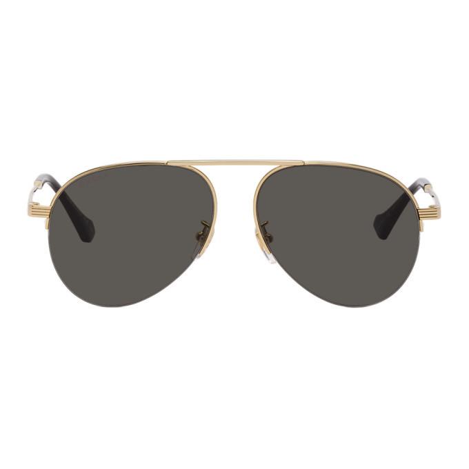 Photo: Gucci Gold GG0742S Sunglasses
