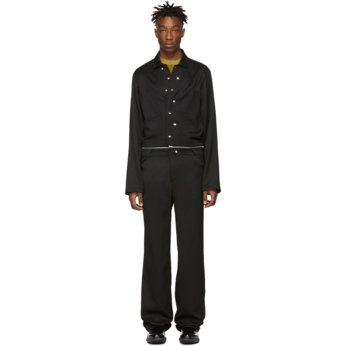 Photo: Mackintosh 0004 Black Zippered Jumpsuit