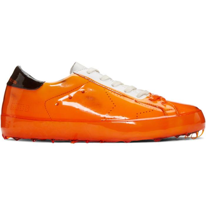 Photo: Golden Goose Orange Skate Dip Superstar Sneakers