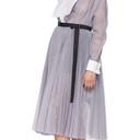 Sacai Blue Stripe Wrap Skirt