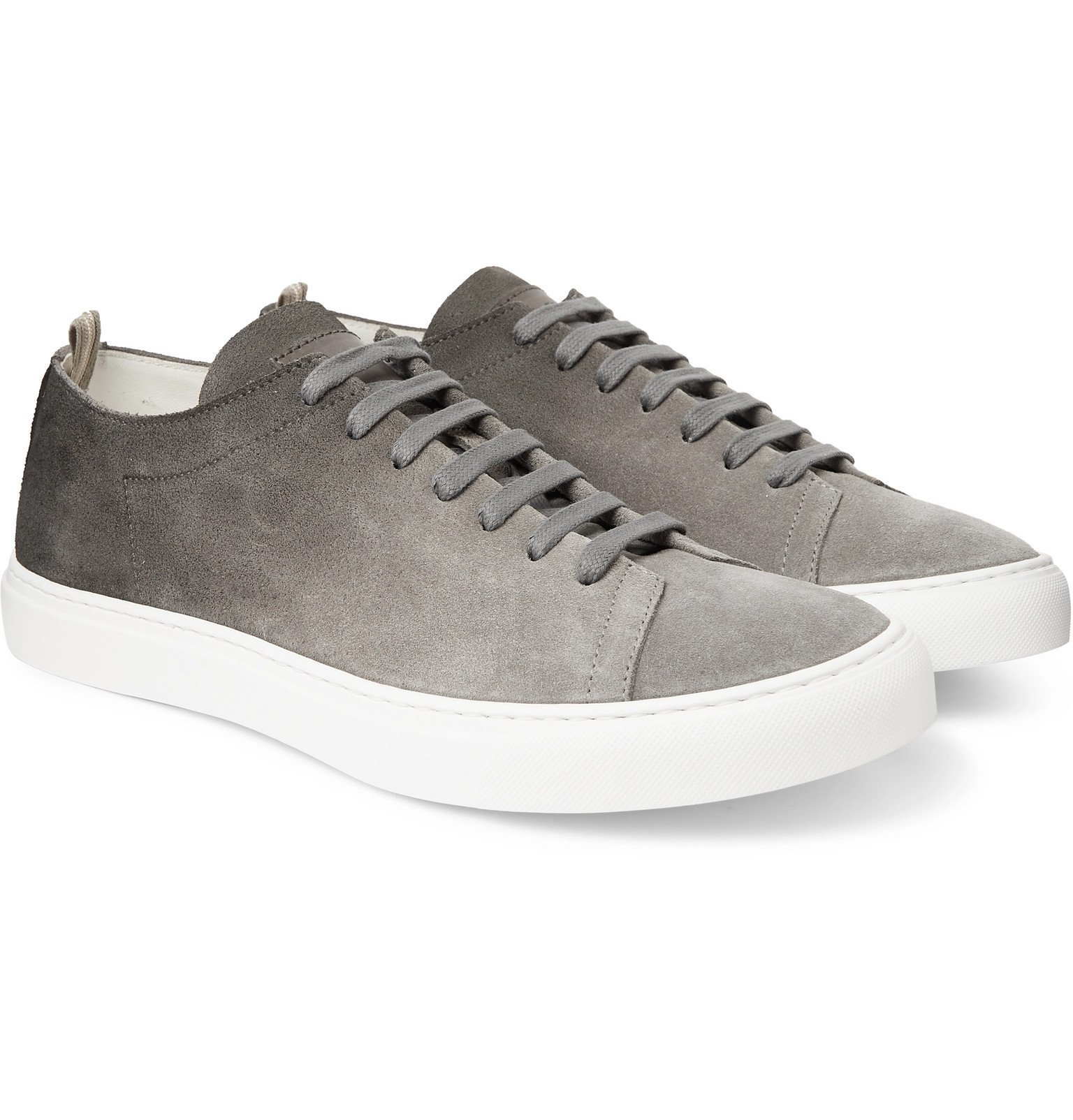 Photo: Officine Creative - Leggera Dégradé Suede Sneakers - Gray