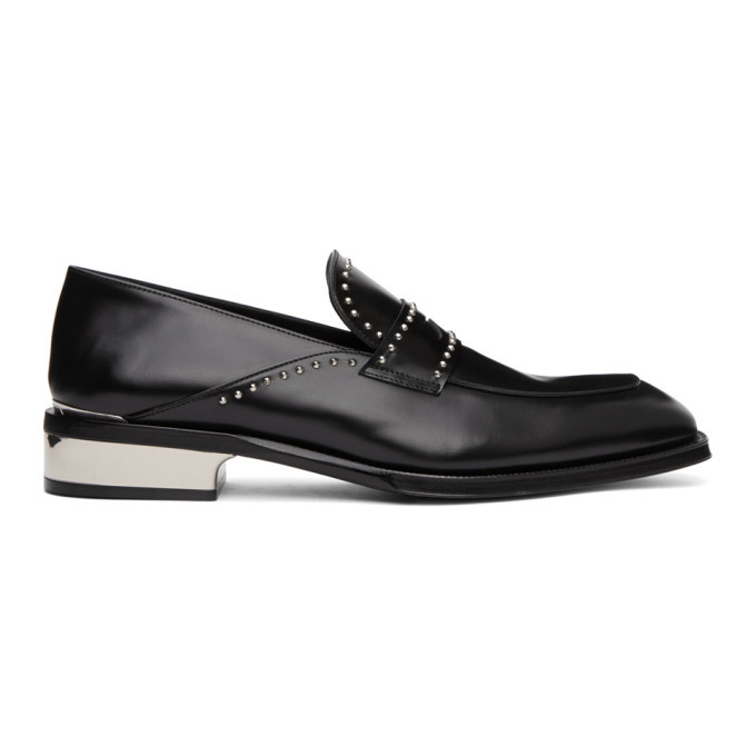 Photo: Alexander McQueen Black Studded Loafers