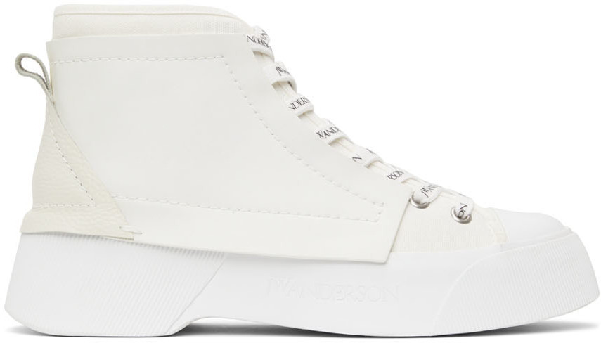 Photo: JW Anderson White Trainer Sneakers