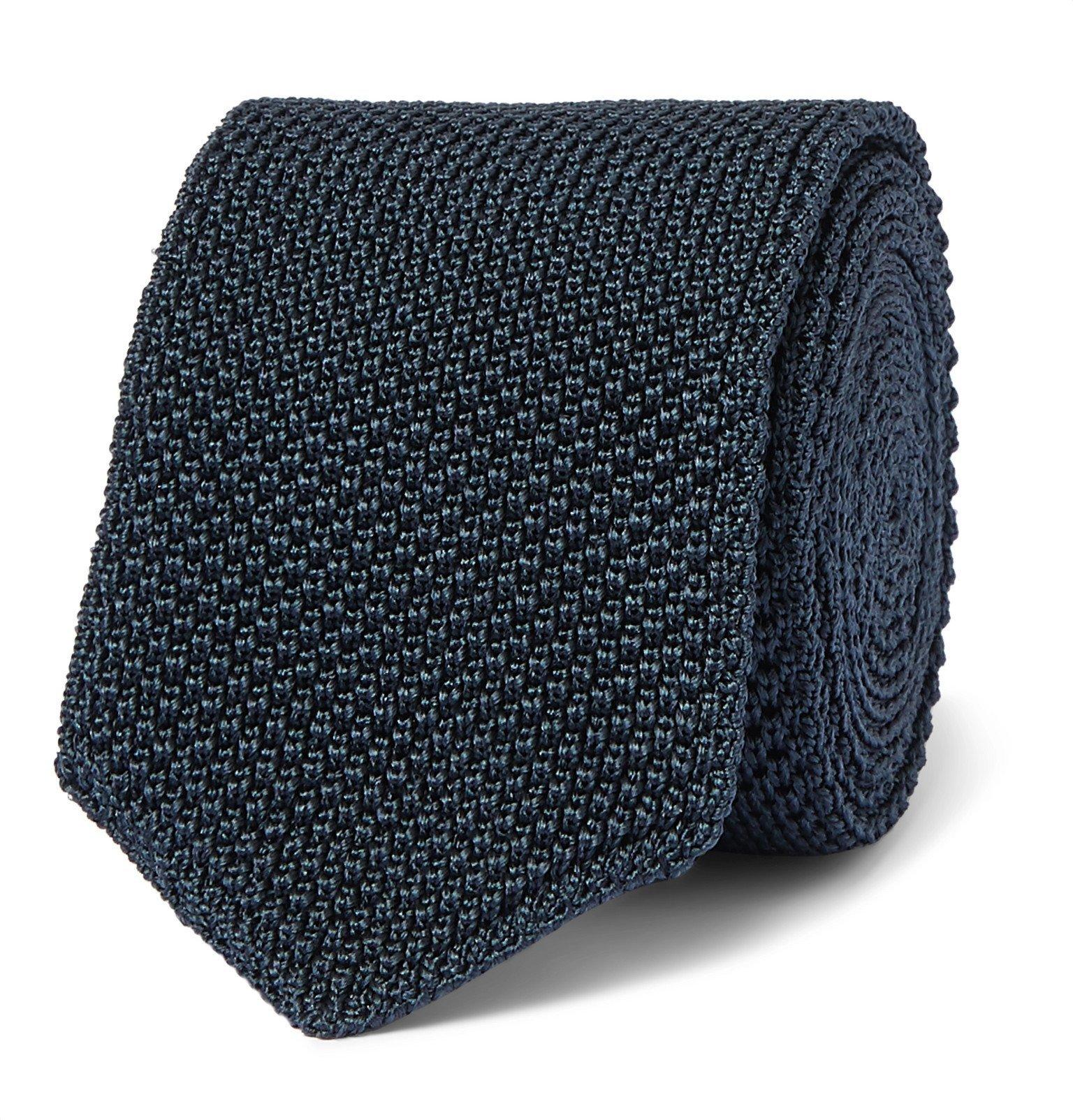 Photo: Ermenegildo Zegna - 6.5cm Knitted Silk Tie - Blue