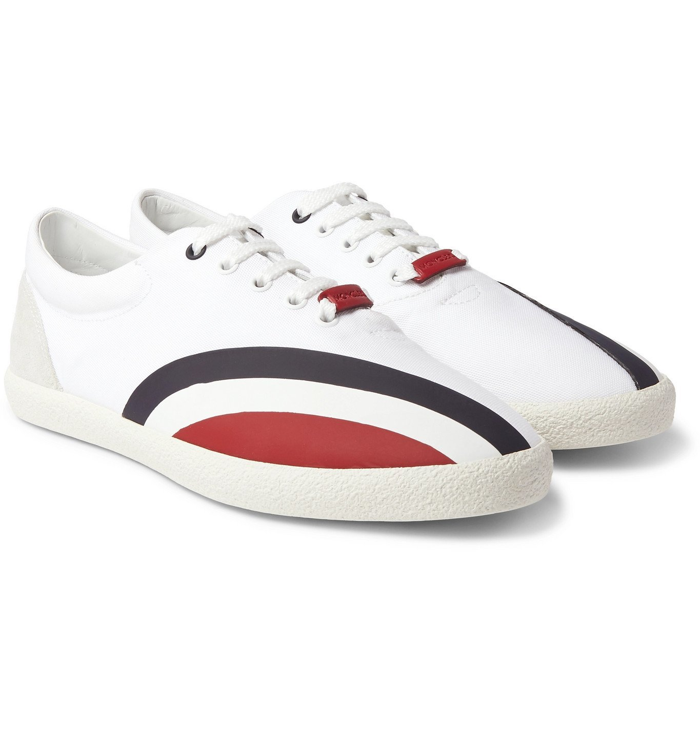 Photo: Moncler Genius - Suede, Rubber and Canvas Sneakers - White