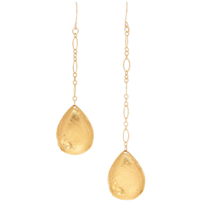 Alighieri Gold The Trace of a Tear Earrings