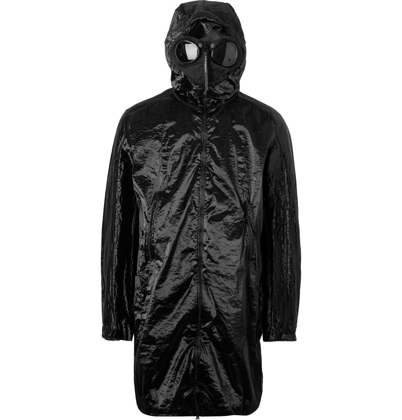 C.P. Company - Kan-D Garment-Dyed Crinkled-Nylon Hooded Parka with Detachable Fleece Liner - Black