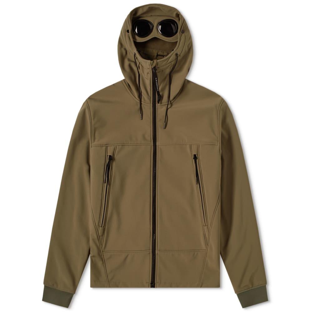 C.P. Company Soft Shell Goggle Jacket Classic Olive