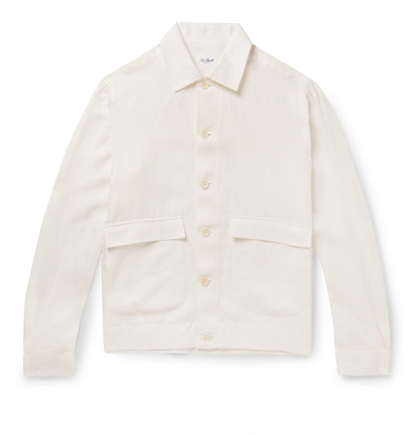 Photo: De Petrillo - Linen Bomber Jacket - White